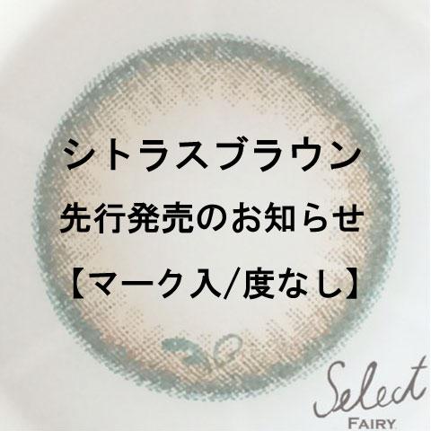 シトラスブラウン先行発売