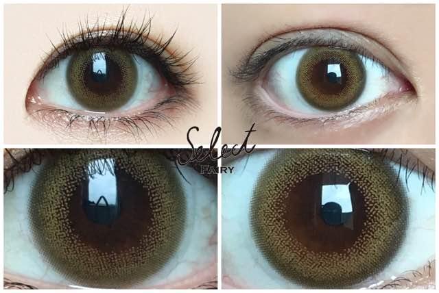 外国人風/高発色系ヘーゼルフチあり1st/黒目と茶目発色の違い比較